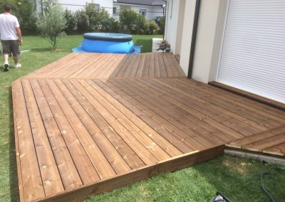 Construction Terrasse Pin Brun – Saint Caprais