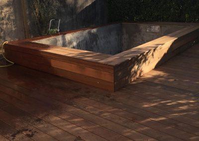 Construction Terrasse de Piscine Bois En Ipé – Bouliac